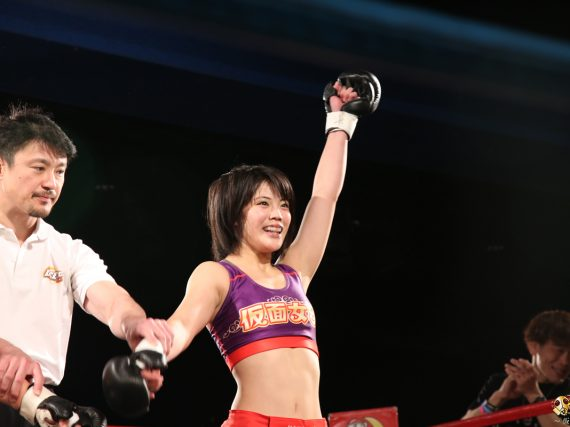 Kamen Joshi's Nanaka Kawamura wins mixed martial arts match at Deep Jewels 18