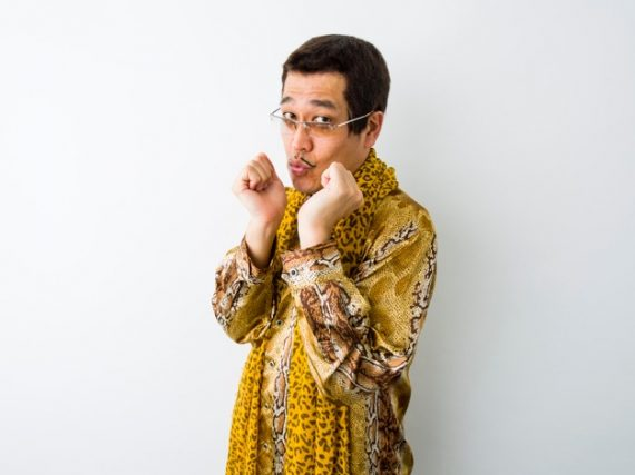 PPAP star PIKOTARO features 'SUSHI' after apple and pineapple