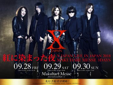 X JAPAN announces Three Deep Red Nights at Makuhari Messe