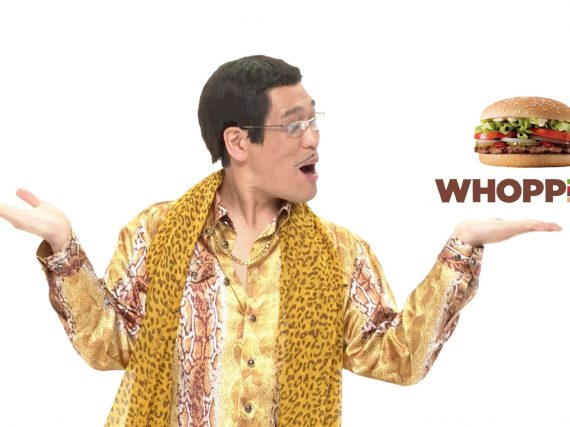 PPAP star PIKOTARO goes Whopper+Pineapple = Uhhhh!